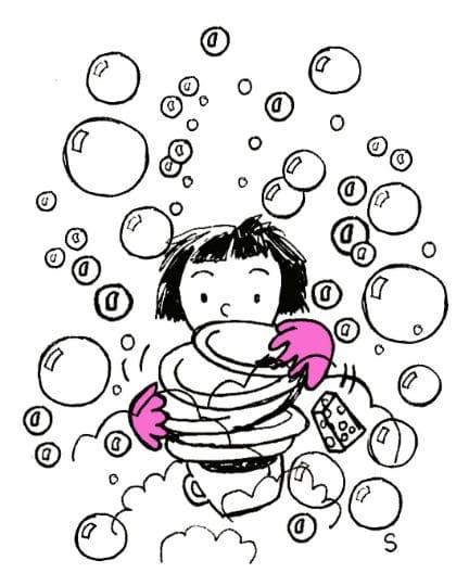 Enfants charmants, dessin de Sylvie Martin pour la Gazette de Lorette