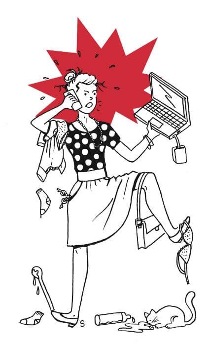 Mère parfaitement imparfaite, dessin de Sylvie Martin pour la Gazette de Lorette