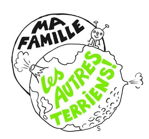 Terriens divins, dessin de Sylvie Martin pour la Gazette de Lorette