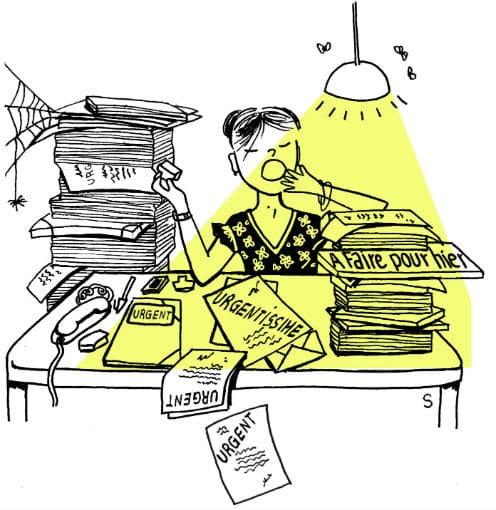 Travail épanouissant, dessin de Sylvie Martin pour la Gazette de Lorette
