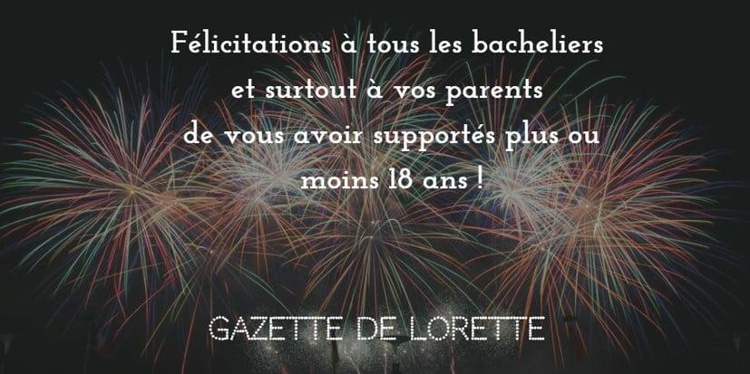 Discours aux bacheliers sur leur avenir par la Gazette de Lorette