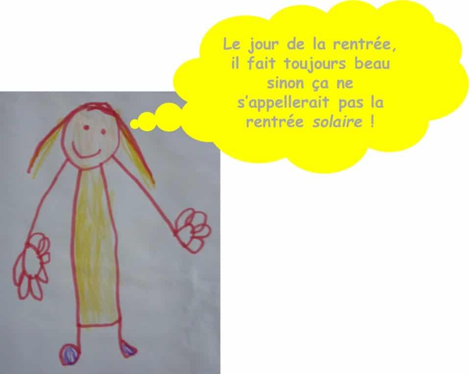 Des mots rigolos d'enfants sur la rentrée scolaire par la Gazette de Lorette