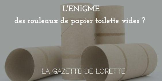 L'énigme des rouleaux de papier toilette vides